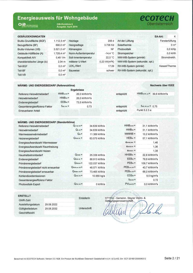 Immobilie von Styria Wohnbau in Rohr IX - Whg. Nr. II/2/15 inkl. 1 TG-Stellplatz, 4532 Rohr im Kremstal #1