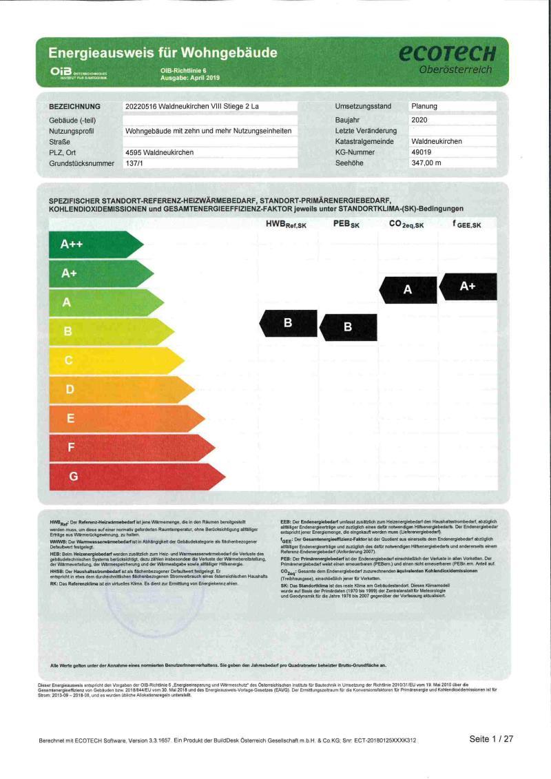 Immobilie von Styria Wohnbau in Gaflenz VII - Whg. Nr. I/2/6 + TG 6, 3334 Gaflenz #1