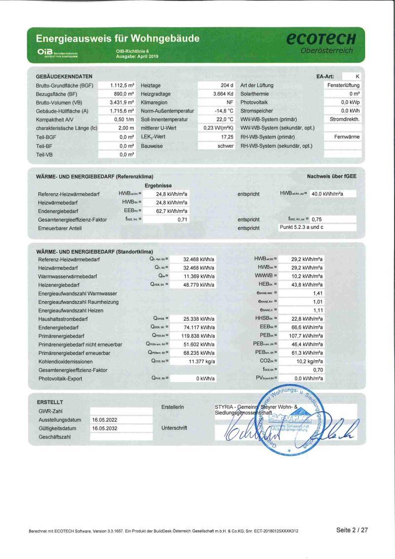 Immobilie von Styria Wohnbau in Eggendorf II - Whg. Nr. II/E/2 + Gar. 2, 4622 Eggendorf im Traunkreis #1